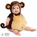 Caliente lindo bebé Co-splay bobysuit Cabritos de la Ropa Del Niño Muchachas de Los Bebés Mameluco Del Traje de Halloween