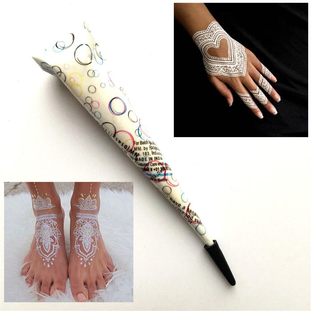 White Wedding Dress With Henna: White Indian Mehndi Henna Tattoo Paste Cone For Wedding