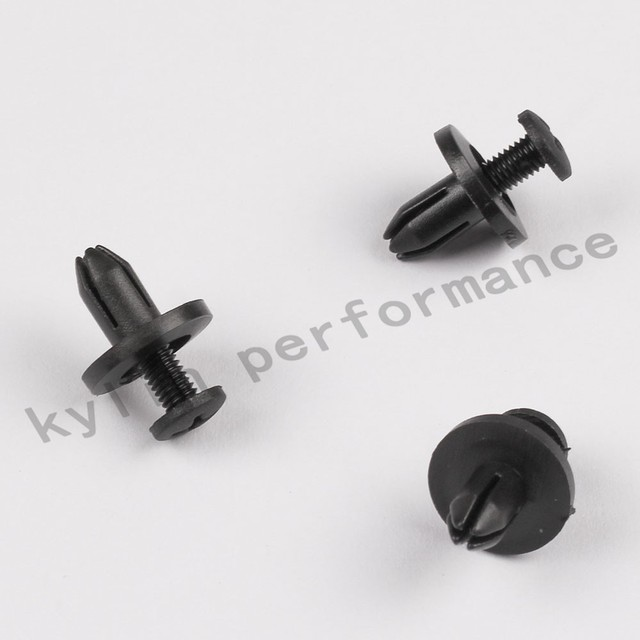 20/50/100pcs 6mm Plastic Rivets Automobile Car Decoration Clip Door Trim Panel Nylon Retainer Clips Auto Fastener OT206