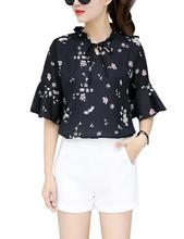 2019 New Yfashion Women Stylish Loose Style Chiffon Shirt Tops Casual Flower Printing T-Shirt Top Selling