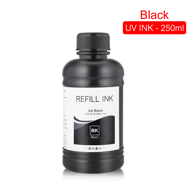 Image 2 - 250ML 5Bottles/Set LED UV Ink For DX4 DX5 DX6 DX7 Printhead For Epson 1390 R1800 R1900 4800 4880 7880 9880 UV Flatbed Printer-in Ink Refill Kits from Computer & Office