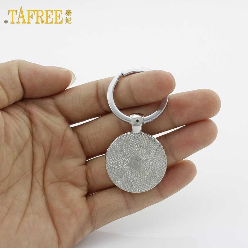 TAFREE Симпатичные такса цепочка для ключей Винтаж минималистский борзая силуэт искусства брелок прекрасная собака изображение профиля jewelry KC354