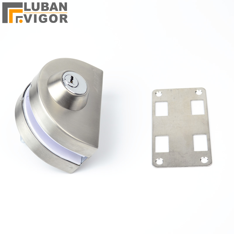 Glass Door Lock, Latches,304 stainless steel,without hole,One door,Bidirectional unlock, Frameless glass door thick reinforced glass door lock all sus304 stainless steel no need to open holes frameless glass door cp408