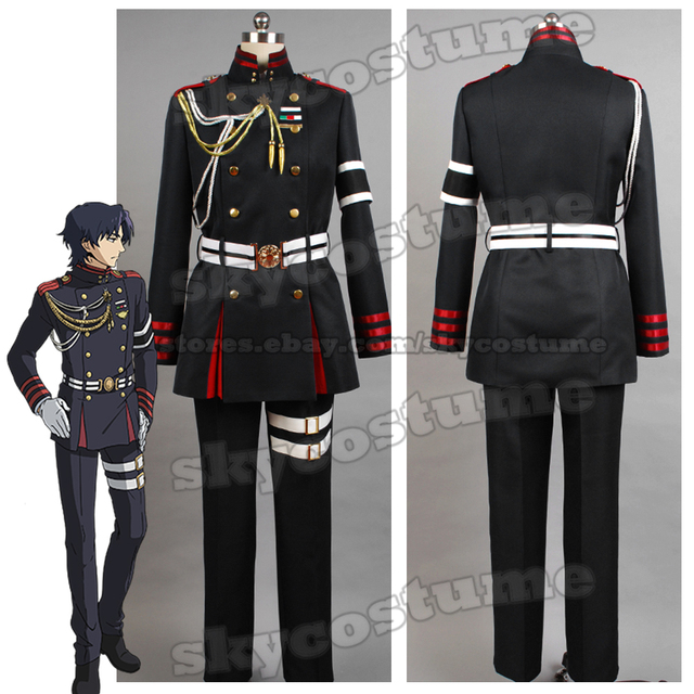 Anime Serafim da Extremidade Guren Ichinose Cosplay Traje do Carnaval de  Halloween 4340f9566adb