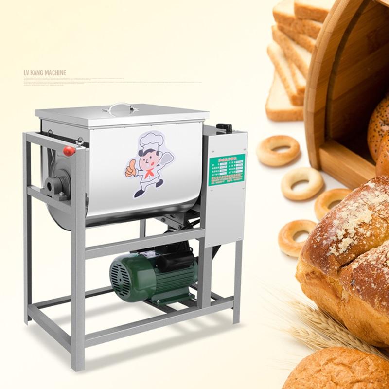 1 pc mélangeur de pâte commerciale mélangeur de farine mélangeur d'agitation adapté pour les pâtes pâte à pain pétrissage capacité 15 kg (5-15 kg) 1500 w