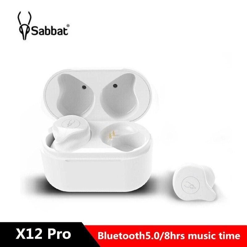 Nouveauté Sabbat X12 Pro TWS Bluetooth Earbud 5.0 Binaural stéréo in-ear Mini écouteur sans fil avec bac de chargement