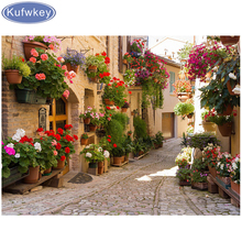 5D DIY Diamond Painting city landscape Embroidery Full Square Cross Stitch flower Rhinestone Mosaic Home Decor