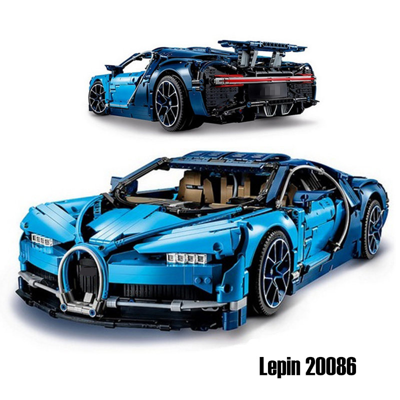 Lepin 20086 Technic Series Blue Bugattied Super Car Chiron Building Blocks Bricks Toys Legoingly Technic 42083 for Children Gift lepin 21010 914pcs technic super racing car series the red truck car styling set educational building blocks bricks toys 75913