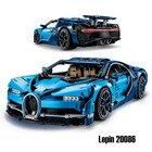 Lepin 20086 Technic Series Blue Bugattied Super Car Chiron Building Blocks Bricks Toys Legoingly Technic 42083 for Children Gift