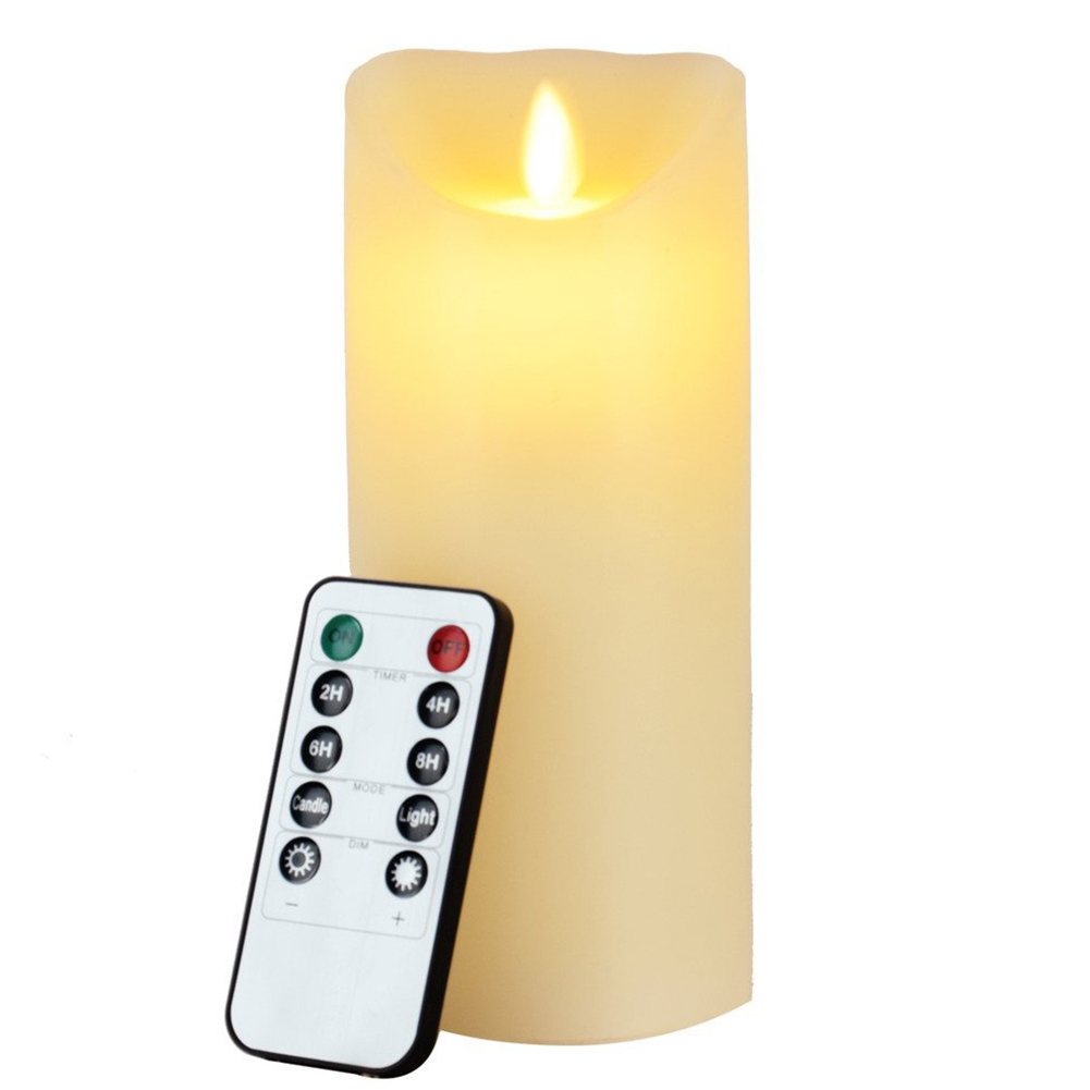 Brand New Christmas Light Flameless Candles Remote Included 7 Inch flameless Candles with Timer of 2,4,6,8 Hours Battery Operate