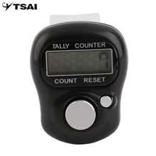 Mini Digit LCD Electronic Digital Golf Finger Hand Held Tally Row Counter Black High Quality digital tally counter black abs tally counter electronic manual clicker security running for golf gym