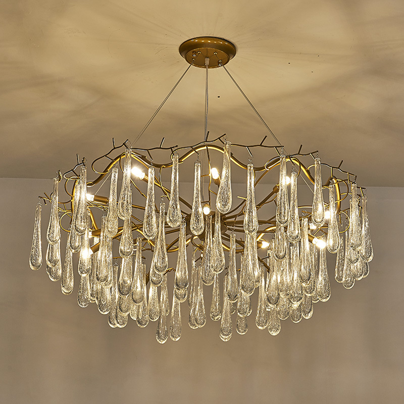 Living room pendant light French crystal led branches bar lamps - Indoor Lighting - Photo 2