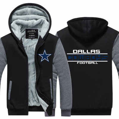 huge discount 19358 432c5 American football cosplay rugby football Hooded Thick Zipper Men  Sweatshirts Jackets Coats Free Winter steelers frlcons cowboys