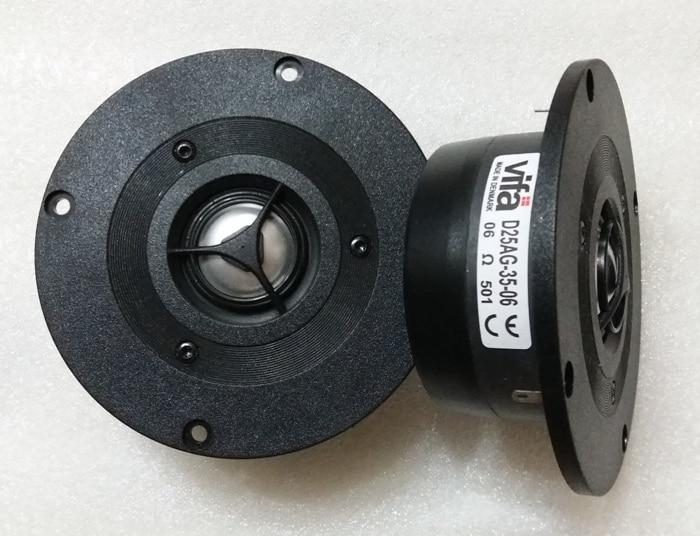 2PCS Original VIFA D25AG-35-06 4inch Aluminum Dome Tweeter Speaker Driver Unit Magnetism Shielded 6ohm Fs=1500Hz 100W D104mm 2pcs kasun qa 2100 4inch black fabric dome tweeter speaker driver unit fs 1600hz 8ohm 60w panel d104mm