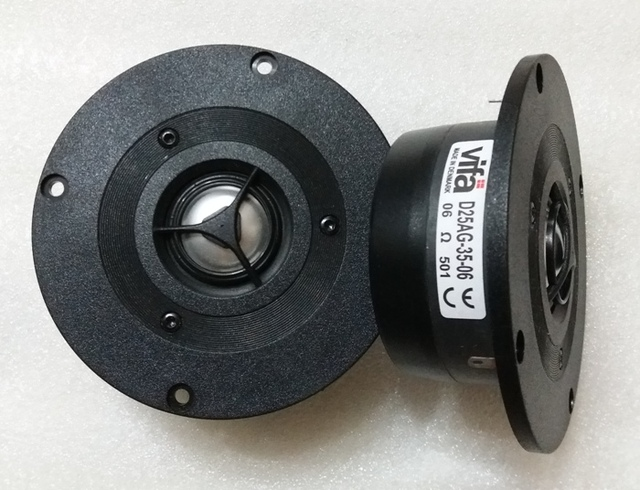 US $66 28 |2PCS Original VIFA D25AG 35 06 4inch Aluminum Dome Tweeter  Speaker Driver Unit Magnetism Shielded 6ohm Fs=1500Hz 100W D104mm-in  Speaker