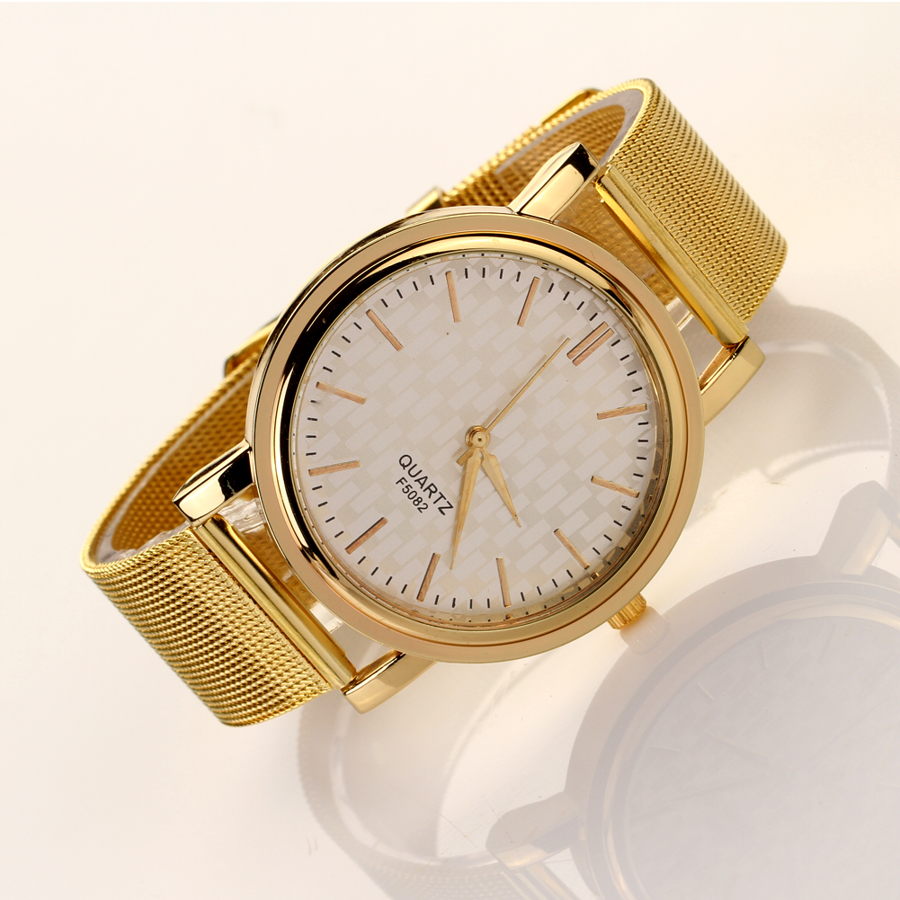 Hot sale Women Watch Stainless Steel strap Gold relojes mujer Quartz wrist watches Casual ladies dress watches clock mance women men unisex watches gold stainless steel quartz wrist watch skull pirate quality relogio time clock 2016 hot sale