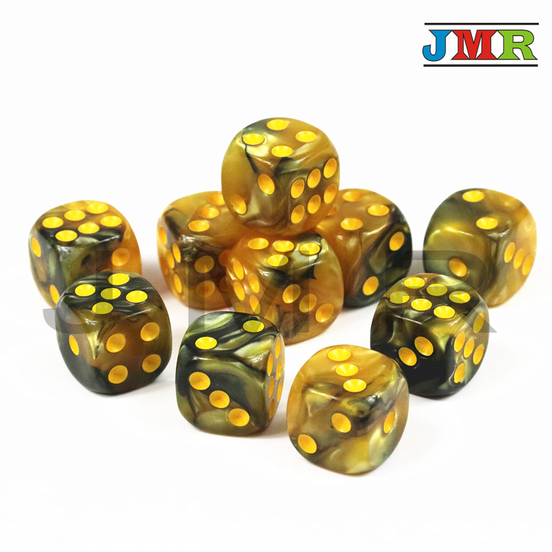 Brand New 10pcs/set of <font><b>12mm</b></font> <font><b>D6</b></font> Gambling Playing <font><b>Dice</b></font> for <font><b>Dice</b></font> Tower Board Game,Tabletop Game,games Multi Color image