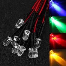 10Pcs DC 12V LED Diode LED Light Lamp Bulb Prewired Emitting Diodes For DIY Home Decoration
