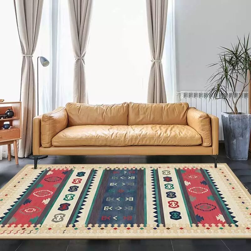 Vintage American Style Big Size  Living Room Rug, Kilim Pattern Coffee Table Carpet, , Gorgeous Home Decoration Floor Mat