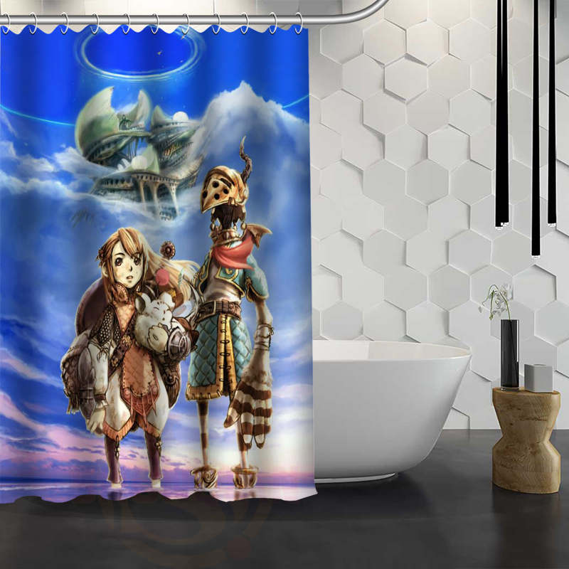 Custom Final Fantasy Shower Curtain With Hooks Fabric For Bathroom Waterproof Bath Gift In Curtains From Home Garden On