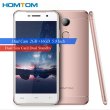 Original HOMTOM HT37 MTK6580 Quad Core 1.3GHz 16GB ROM 2GB RAM 5.0 inch HD Fingerprint 13MP Smart Gestures 3000mAh Mobile Phone