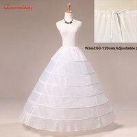 ILoveWedding 6 Hoop Petticoat Balo Elbise Düğün Aksesuarları 2016 Parti Elbiseler Jüpon için Artı Boyutu Ayarlanabilir Bel