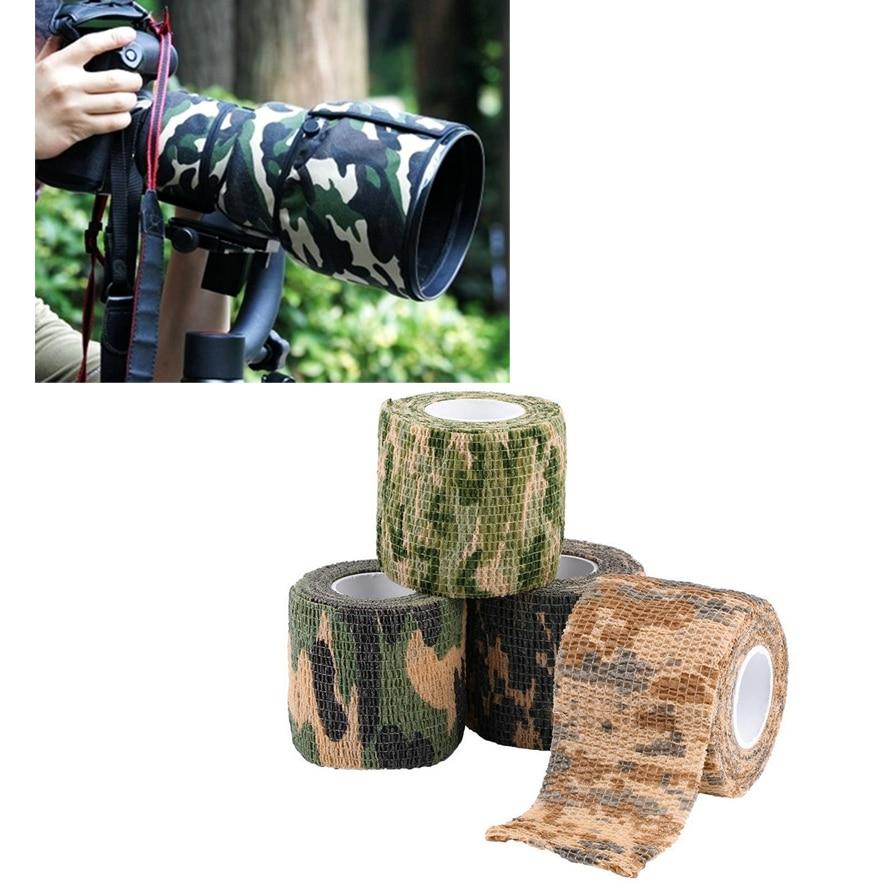 5 cm x 4.5 m Ejército Camo Wrap Durable Herramienta de Tiro de Caza Camuflaje Ca