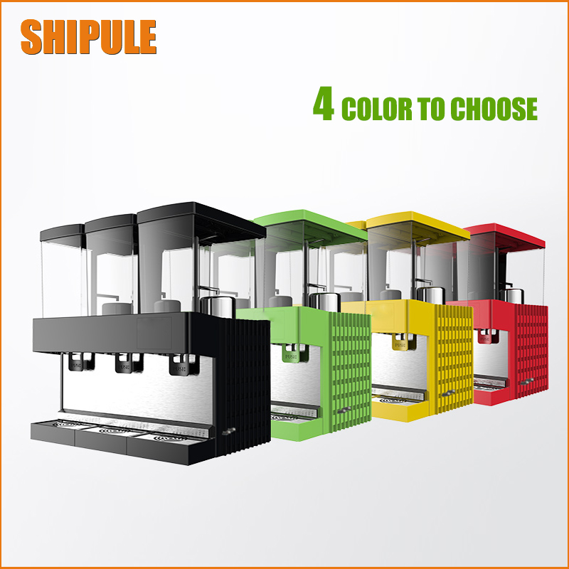 SHIPULE Commerical Ice Cream Maker with Three Tank Slush Machine Cold Drink Dispenser Smoothies Machine with Ice Cream Machine