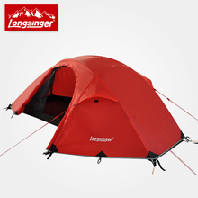 Silicon ultra light single double layer aluminum rod outdoor font b camping b font alpine tents