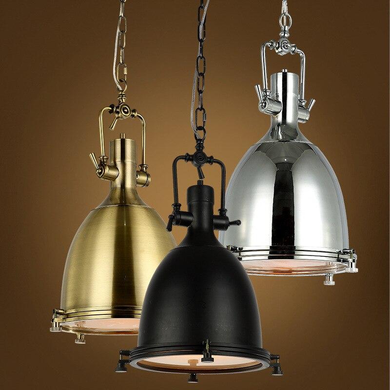 110v 220v iron industrial light pendant lights lamp - Lamparas de colgar ...