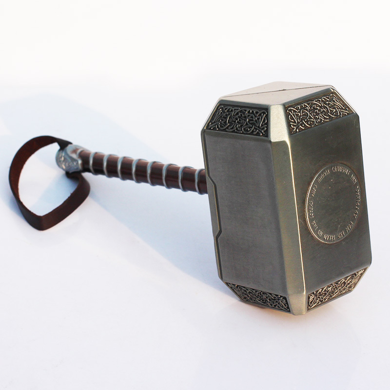 Free Shipping 20cm Avengers Thor's Hammer Toys Thor Custome Thor Cosplay Hammer high quality the avengers thor cosplay hammer thor s hammer action figure super hero collection toy ems free shipping