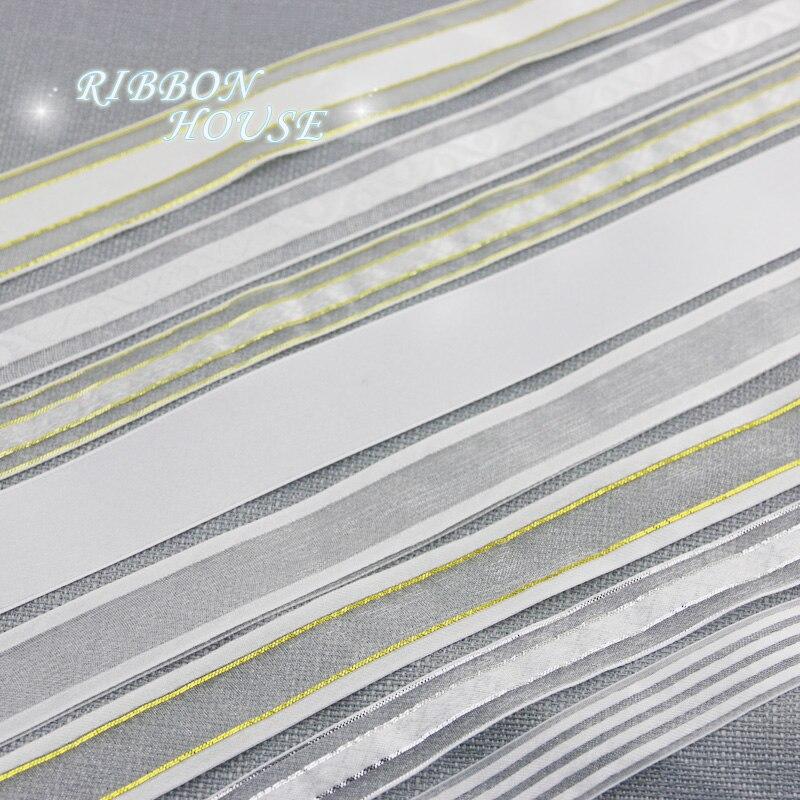 Белый микс атласная корсажная органза ленты оптовая продажа Подарочный пакет тесьма ленты