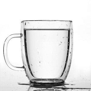 Image 2 - Large Capacity Bodum Design Swig Mug Double Wall Glass Free BPA Assam Tea Glassware Italy Espresso Thermal Insulation Coffee Cup