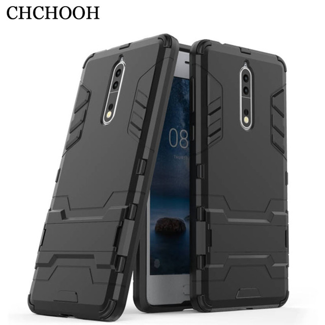 new style 74843 4ccf6 US $4.2 |For Coque Nokia 8 (5.3 inch) Hybrid Dual Heavy Duty Iron Man  Shield 3D Armor Case For NOKIA 8 Kickstand Cover-in Half-wrapped Case from  ...