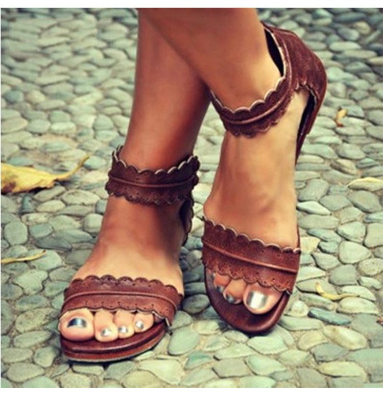 Women Sandals Beach-Shoes Open-Toe Female Casual Retro for Summer Zip 42/43 New