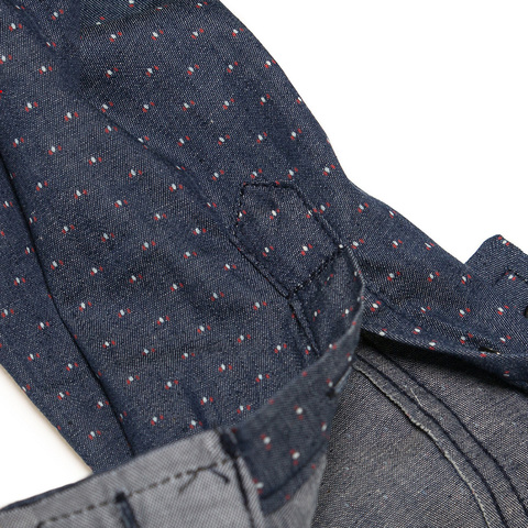 Hot Sell Brand 2018 Men Polka Dot Denim Dress Shirt Long Sleeve 100% Cotton High Quality Casual Shirt Male Social Shirts 3XL 120 Multan