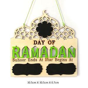 Image 5 - 1 conjunto islam ramadan contagem regressiva para eid mubarak advento de madeira pendurado placa mensagem casa diy decorações artesanato festa suprimentos