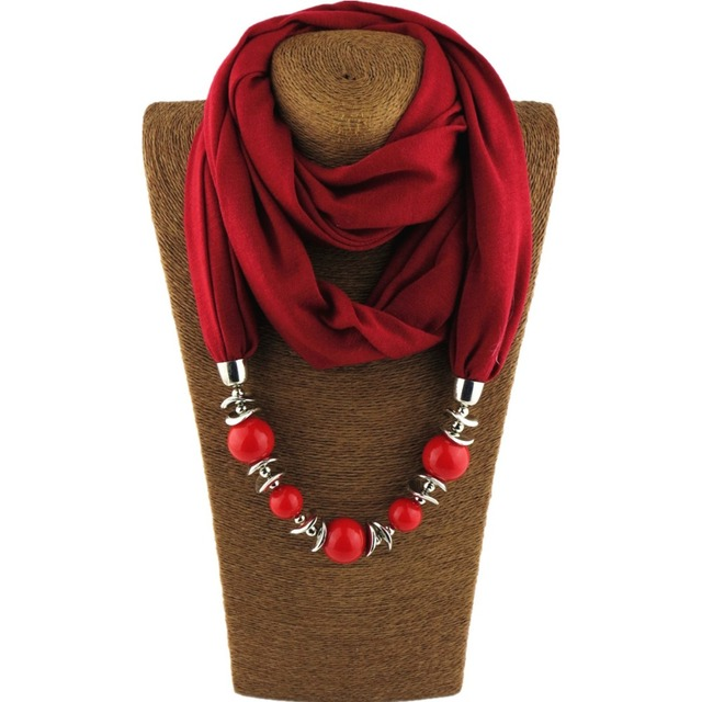 2018 new brand women scarf fashion ethnic scarf pendant necklace 2018 new brand women scarf fashion ethnic scarf pendant necklace neckerchief gorgeous beads jewelry ring scarves aloadofball Image collections