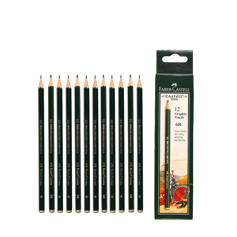 все цены на JIANWU 12pcs/set Faber Castell 9000 Advanced sketching pencil Professional drawing pencil Painting supplies