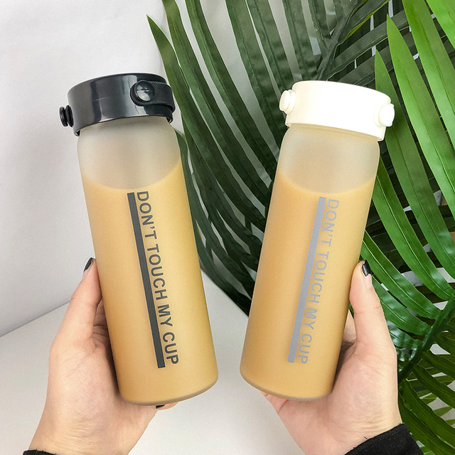 Portable Creative Letter Glass Water Bottle