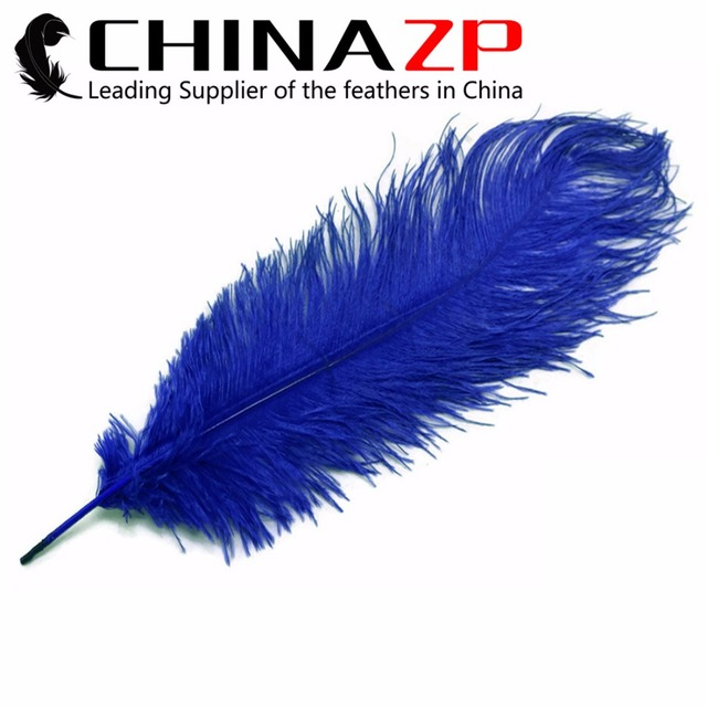 CHINAZP Factory Size 35-40cm(14-16inch) 200pcs/lot Cheap Dyed Royal Blue Ostrich Drab Feather for Evening Dresses