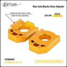 CNC пара заднего регулятор цепи осевой блок для SUZUKI DRZ400SM DRZ 400SM 2004 2005 2006 2007 2008 2009 2010 2011 2012 2013