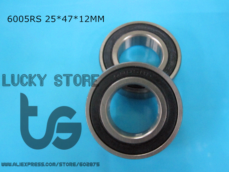 6005RS 10PieceS bearing metal sealing bearings chrome steel deep groove bearing 6005 6005RS 25*47*12mm free shipping