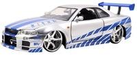 Jada 1:24 FAST & FURIOUS 8 F8 Brian's Nissan Skyline GT R R34 Diecast Model Car NEW IN BOX