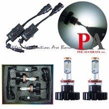 PA LED 1SET x 6500K 80W Headlight Kit High Beam Light Bulbs H8 H11 Fog Light For Philips LED ZES Chip