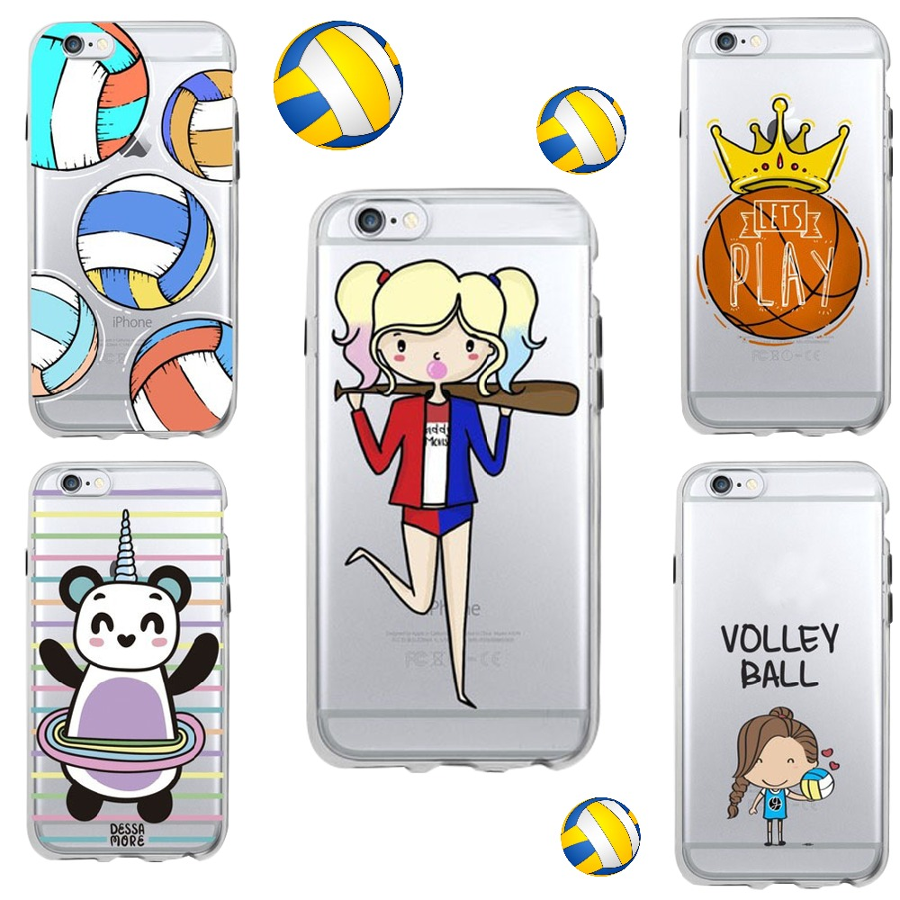 Sports Girl Basketball Volleyball Cute Transparent Funny