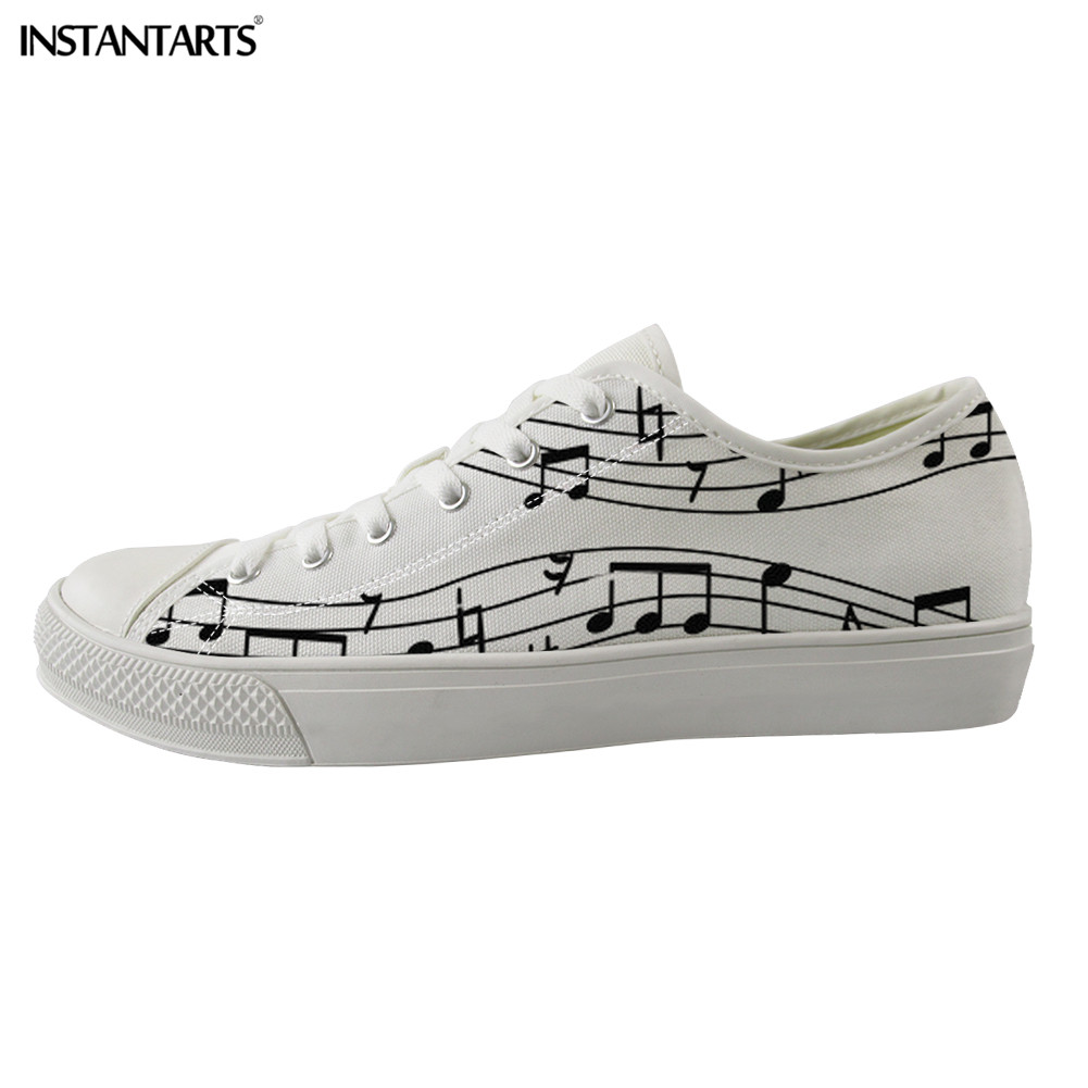 INSTANTARTS Canvas Shoes Men High Quality Casual Sneakers Low-top Vulcanize Shoes Colorful Music Notes Pattern Man Walking ShoesINSTANTARTS Canvas Shoes Men High Quality Casual Sneakers Low-top Vulcanize Shoes Colorful Music Notes Pattern Man Walking Shoes