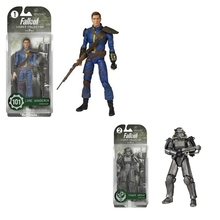 2pcs/lot Fallout 4 PVC Action figure Toy  Power Armor Out of clothin Robot Doll