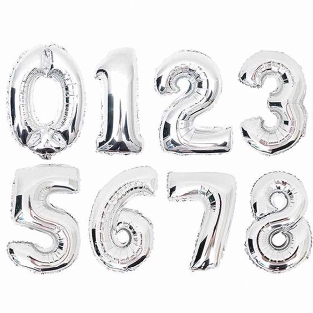 Globos de helio grandes de plata y oro de 16/32/40 pulgadas, globos de aluminio para decoración de bodas, recuerdos de fiesta de cumpleaños, favores