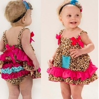 Free Shipping Zebra Baby Girls Dresses Suspender Dress Pants Baby Clothes Sets Top Quality